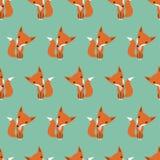 Foxes graficamente il modello Fotografia Stock Libera da Diritti