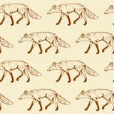 Foxes il modello senza cuciture Fotografia Stock