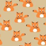 Foxes il modello senza cuciture Fotografie Stock Libere da Diritti