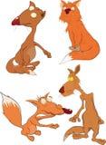 Foxes l'insieme completo illustrazione vettoriale