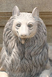 Foxes statue in smile. Stock Photo