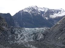 Foxglacier. In this time, It abit ice but If you waiting in winter, I think It`s very more beautiful than now Royalty Free Stock Image