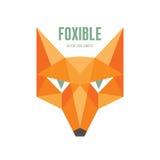 Foxible -传染媒介商标概念 Fox头传染媒介例证 Fox头传染媒介商标模板 免版税库存图片