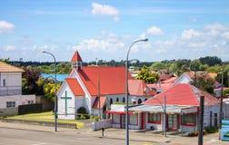 Foxton,新西兰- 2015年11月28日:诸圣日英国国教的教堂 免版税库存照片
