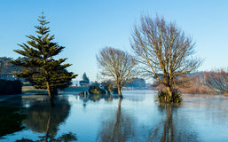 Foxton Full River Loop. Foxton River loop over fill in winter Stock Photography