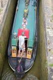 Foxton lås på den storslagna fackliga kanalen, Leicestershire, UK Arkivbilder