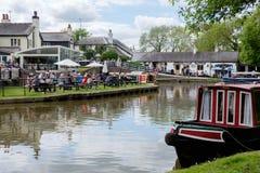 Foxton lås på den storslagna fackliga kanalen, Leicestershire, UK Royaltyfria Foton