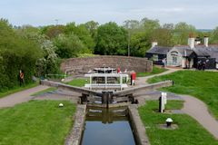 Foxton Locks on the Grand Union Canal, Leicestershire, UK stock photography