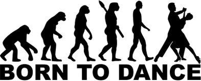 Foxtrot evolution. Born to dance. Sports vector stock illustration
