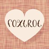 Foxtrot la danza stock de ilustración