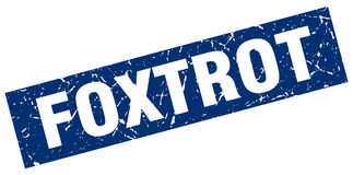 Foxtrot stamp Royalty Free Stock Images
