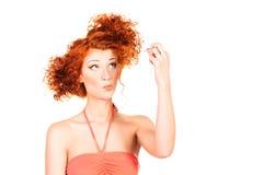 Foxy hair Royalty Free Stock Photos