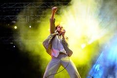 Foxygen (banda) en concierto en el festival 2015 del sonido de Primavera el 30 de mayo de 2015 en Barcelona, España Imagen de archivo libre de regalías