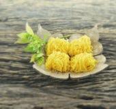Foy Thong du nom thaïlandais de dessert Photographie stock