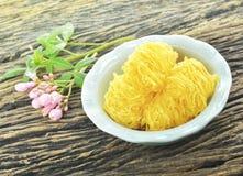 Foy Thong du nom thaïlandais de dessert Photos libres de droits