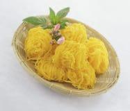 Foy Thong du nom thaïlandais de dessert Images libres de droits