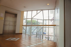 Foyer area with elevator Royalty Free Stock Photo