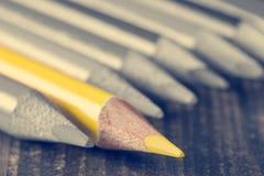 Foyer au crayon jaune Photographie stock libre de droits