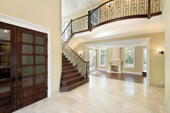 Foyer with balcony. Foyer in new construction home with balcony Royalty Free Stock Photos