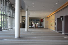 Foyer of Brisbane Convention & Exhibition Centre, Brisbane. Nearly empty foyer of the Brisbane Convention & Exhibition Centre, Brisbane, Australia on Saturday royalty free stock photography