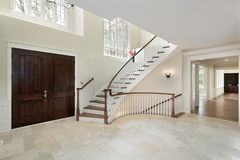 Foyer with circular staircase Royalty Free Stock Photo