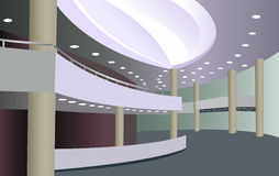 Foyer of the concert hall Royalty Free Stock Photos