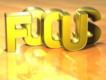 foyer de 3D Word sur le fond jaune Photographie stock libre de droits