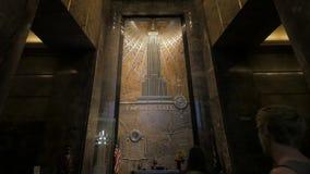 Foyer de l'Empire State Building, Manhattan banque de vidéos