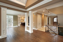 Foyer and dining room Royalty Free Stock Images