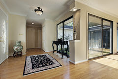 Foyer with doors to courtyard Stock Images
