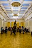 Foyer du Hall grand du conservatoire de Moscou baptisé du nom de Petr Tchaikovsky Images libres de droits