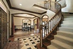 Foyer with floor design Stock Image