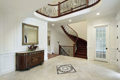Foyer with floor design stock photography