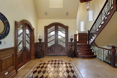 Foyer with floor design Royalty Free Stock Image
