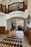 Foyer with floor design. Foyer in luxury home with floor design Stock Photography