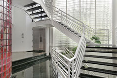 Foyer with glass walls Royalty Free Stock Photography