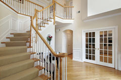 Foyer in luxury home Royalty Free Stock Photo