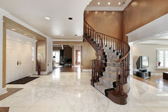 Foyer in luxury home Stock Photos