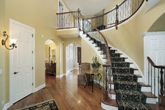 Foyer in luxury home Stock Images