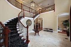 Foyer in Luxury Home. Entryway and Foyer in Luxury Home Royalty Free Stock Photos