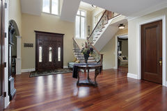 Foyer in luxury home Royalty Free Stock Image