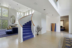 Foyer in modern home royalty free stock photo