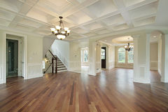 Foyer in new construction home stock images
