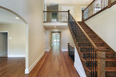 Foyer in new construction home Royalty Free Stock Images