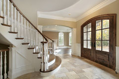 Foyer in new construction home Royalty Free Stock Photos