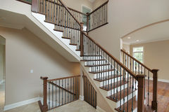 Foyer in new construction home Stock Photo