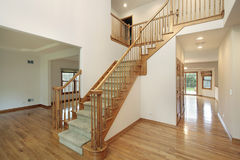 Foyer in new construction home Royalty Free Stock Photography