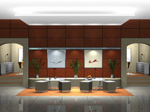 Foyer Rendering Stock Photography