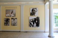 Foyer renversant avec des images des danseurs célèbres, du Musée National de la danse et du Panthéon, Saratoga, New York, 2015 Images stock