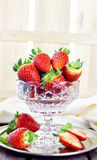 Foyer sélectif de fraises espagnoles Photo stock